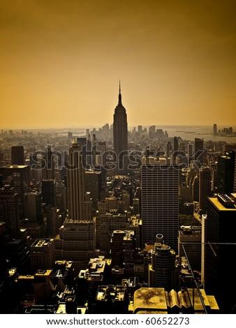 Dark Manhattan Skyline