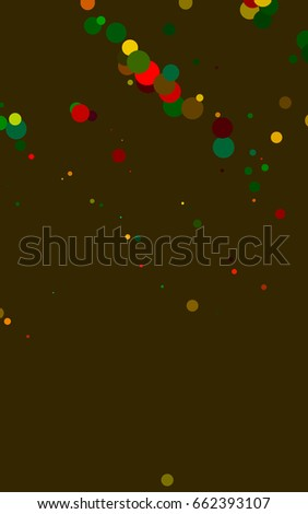 Dark Multicolor, Rainbow banner with circles, spheres. Abstract spots. Background of Art bubbles in halftone style with colored gradient. #662393107