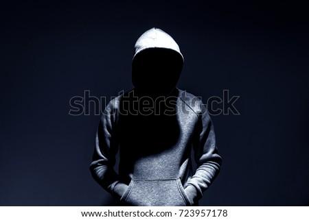 dark mysterious man hoodie, murderer, hacker, anonymus