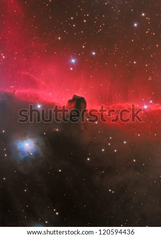 dark nebula in constellation Orion