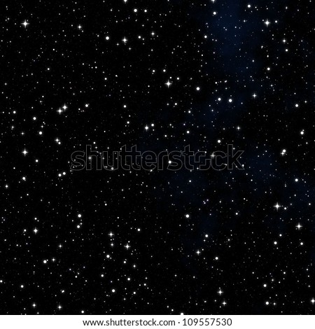 dark nebula sky with white stars