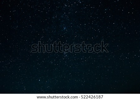 Dark night sky with stars. The constellations in the night sky