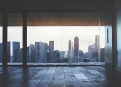 Dark office interior