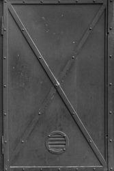 Dark old vintage metal door texture.