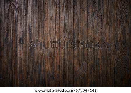 Dark old wooden table texture background top view #579847141