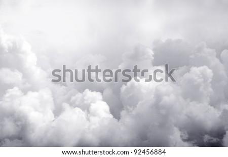 Dark ominous clouds. Dramatic sky