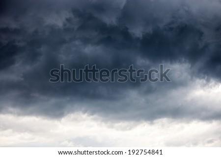 Dark ominous grey storm clouds - dramatic sky