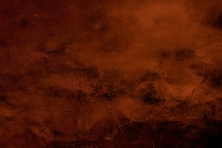 Dark orange painting abstract background or texture