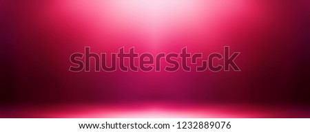 Dark pink 3d background. Vibrant ombre pattern. Luxury wall and floor abstract illustration. Seductive studio interior. Blurred texture. Shine on top. Valentines day festive decor.