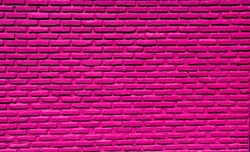 Dark pink  Pastel Brick Wall Old and Clean solid material  background Textures horizontal High quality surface images for design Art ,construction and architecture