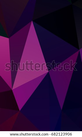 Dark Purple, Pink abstract polygonal template. Brand-new colored illustration in blurry style with gradient. A completely new design for your business.