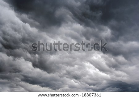 dark rainy clouds