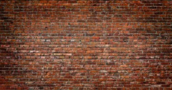 Dark Red Brick wall background and texture