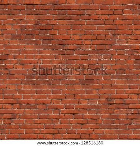 Dark Red Brick Wall Texture. Grunge Seamless Tileable Texture.