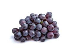 Dark red grape big bunch fruit on white background