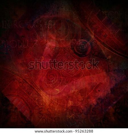 dark red grunge textured abstract background
