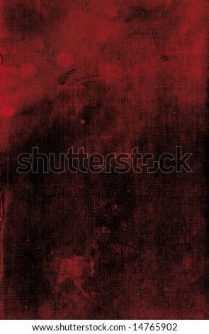 Dark red leather book cover background texture with possible blood spot stains