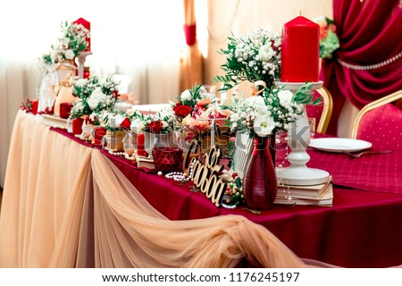 Free Photos Beautiful Holiday Table Setting In White And Gold Color