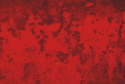Dark red wall texture for background or wallpaper.  Detailed red grunge background. Dark red rusted metal plate texture background.