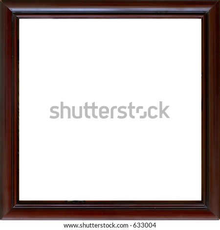 dark red wood frame square