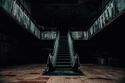 dark room interior abandoned dirty
