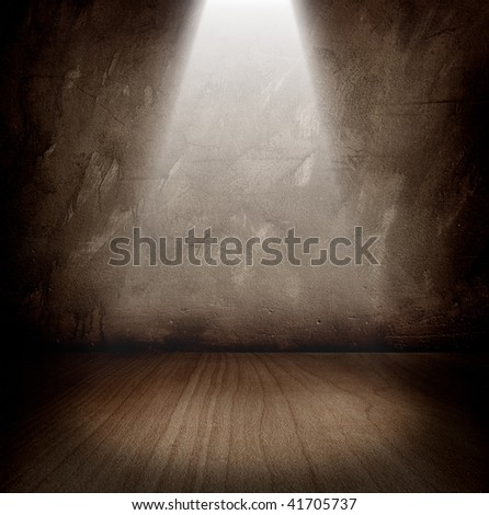 dark room with a beam of light