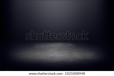 dark room with light background.