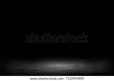 dark room with tile floor and...