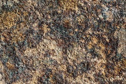 Dark rust texture. Grunge corrosion background. Dirty industrial steel sheet pattern. Weathered eroded surface.