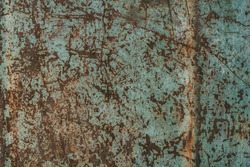 Dark rusty metal texture. Vintage effect.