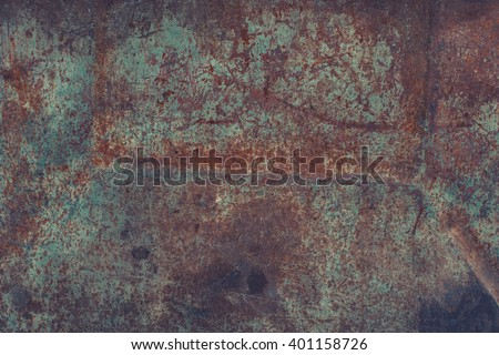 Dark rusty metal texture. Vintage effect.