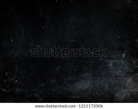 Dark scratched grunge background, dusty blue texture, old film effect #1251172006