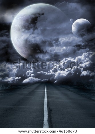 Dark series - road to surreal galaxy