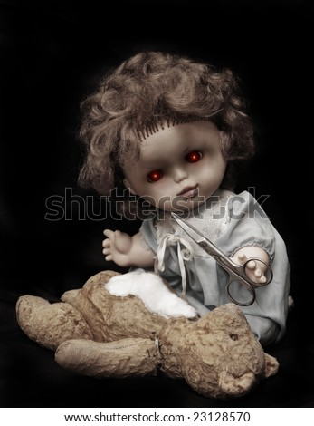Dark series - vintage evil killer doll