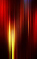 Dark shiny abstract background made of stripes in red and yellow colors.
