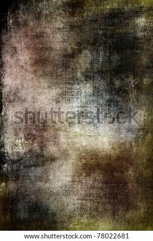 Dark, sinister grunge background in brown, black and green tones.