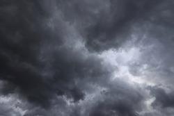 Dark sky full of clouds before the rain