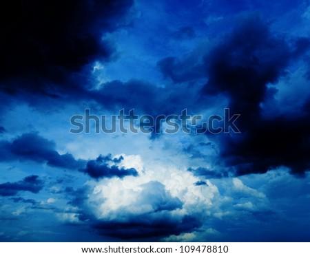 Dark sky of the storm.