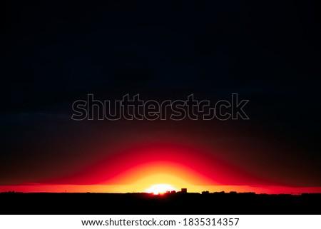Photo of  Dark sky with bright horizon at twilight