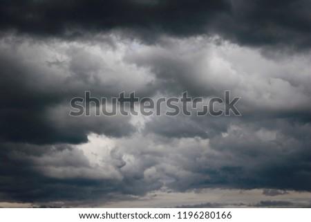 Dark sky with clouds #1196280166
