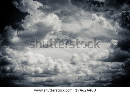 Dark Sky with Detailed Storm Clouds