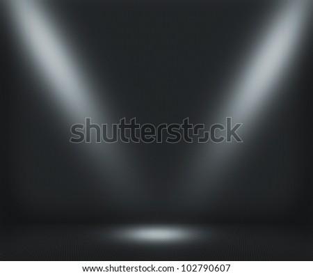 Dark Spotlight Room Background - stock photo