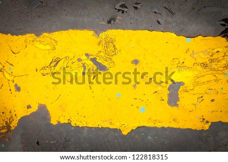 Dark steel floor plate paint with yellow pattern