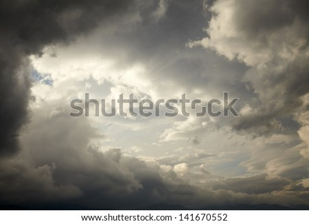 Dark storm clouds - stock photo