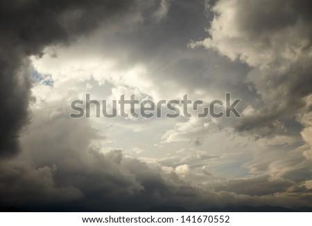 Dark storm clouds #141670552