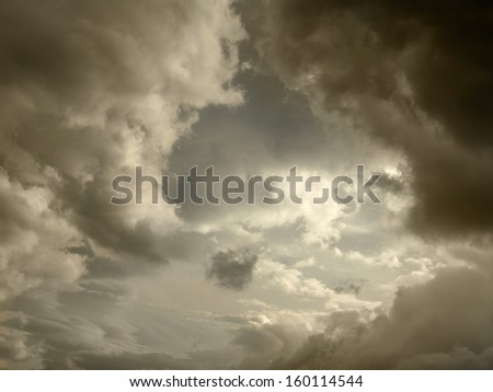 Dark storm clouds background #160114544