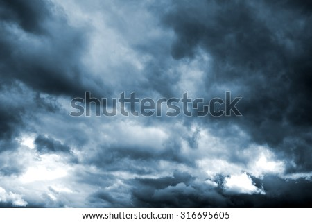 Dark storm clouds before rain. Natural background.