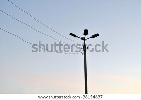 dark street lights