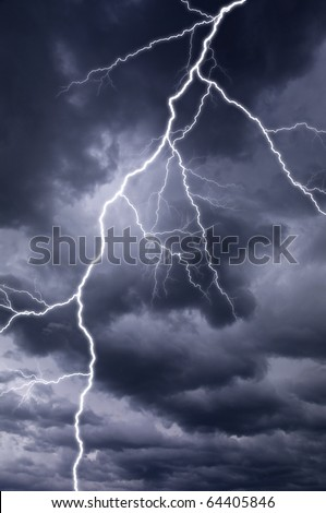 Dark thunderstorm with lightening