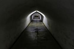 Dark underground passageway to connect with Palace of Yogyakarta (Kraton Palace), Yogyakarta city, Island of Java, Indonesia